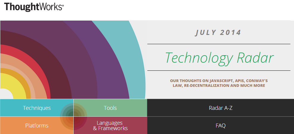 Thoughtworks Technology Radar July 2014